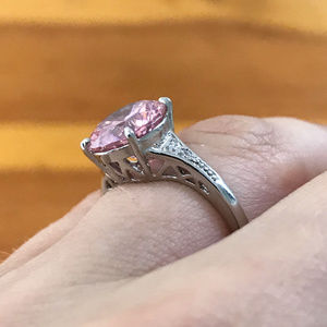 BloomCharm Women's Pink and Silver Ring